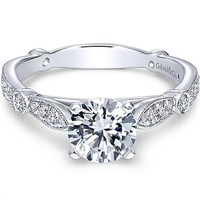 "Gabriel ""Mabel"" Vintage Style Diamond Engagement Ring"
