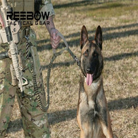 US Army Tactical Dog Leash Quick Release Heavy Duty Panic Snap Adjustable Dog Leash Military Dog Tactical Leads belt 1000D Nylon = 1930124356