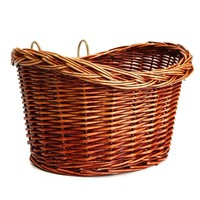 1 pcs Outdoor Classic Style Rustic Basket Willow Straps Cycling Bicycle natural Classic durable strong Wicker Manual Basket
