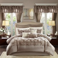 Joella 24 Piece Taupe Queen Room in a Bag