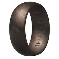 Silicone Wedding Ring Men Rubber Band Active Sport Outdoor Antique Bronze Size 8