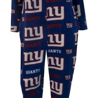 New York Giants Ladies Onesuit Footie Pajama