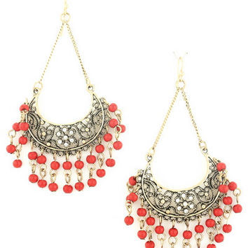 Market Daze Earrings in Red