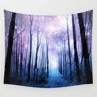 Fantasy Forest Path Wall Tapestry by Whimsy Romance & Fun