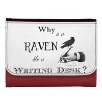 """""""Why is a Raven like a Writing Desk?"""" Wallet"""