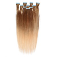 Straight Ombré Tape-In Hair Extensions
