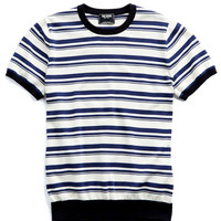Striped Cotton Sweater T-Shirt