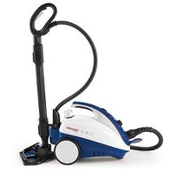 Steam Mop 54 oz.Power Indicator Light With Water Tank Adjustable Steam Output Comes With 12 Attachable Accessories in Blue/White