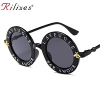 RILIXES Retro Round Women's Sunglasses