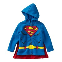 DC Comics Superman Caped Hoodie - Toddler Boy, Size:
