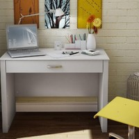 South Shore Work ID Collection Laptop Desk, Pure White