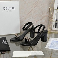 celine Women Casual Shoes Boots fashionable casual leather Women Heels Sandal Shoes