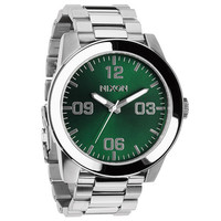 Nixon The Corporal Ss Watch Silver/Green Sunray One Size For Men 23423914001