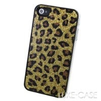 The Spots of a Cheetah Gold Glitter iPhone 4 Case