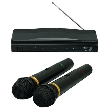 Qfx Twin Pack Wireless Dynamic Microphone System