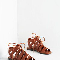 Boho Tie it Out Sandal in Cognac