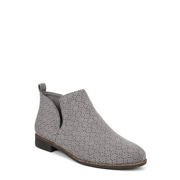 Dr. Scholl's Shoes Women's Rate Boot 6 Dark Shadow Grey Perforated Microfiber Suede