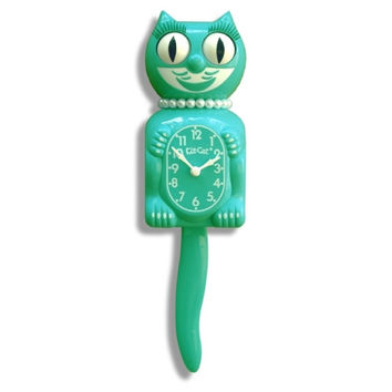 Limited Edition Lady Kit-Cat Clock - Emerald Green