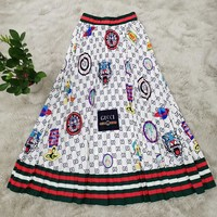 GUCCI Summer Hot Sale Fashionable Women Print Skirt