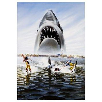 Jaws 3D Movie Poster 24x36 textless art 24x36