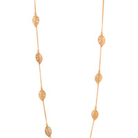 FOREVER 21 Cutout Leaf Chain Necklace Gold One