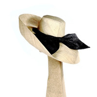 Wide Brim Hat w/ Big Bow OB/HAT/40C-01