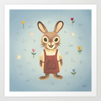 Rabbit Art Print by Greg Abbott