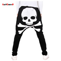 GustOmerD 2017 Spring Skull Printed Mens Joggers Hip Hop Cargo Pants Harem Pants Men Loose Fit Sweatpants For Men
