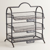 Espresso Austin 3-Tier Wire Tray - World Market