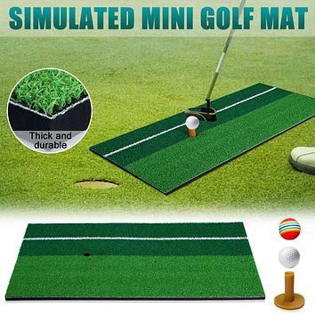 1set Kids Golf Backyard Golf Mat Golf Training Clubs Early Educational For Outdoor Sports Fitness Exercise Toy Kid And Parent