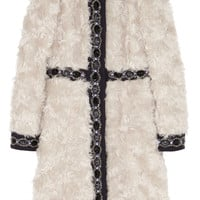 Matthew Williamson - Embellished wool-paneled mohair coat
