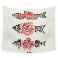 Society6 To Bloom Not Bleed (Limited Time Only) Wall Tapestry