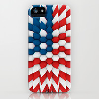 3D Poly Usa Flag iPhone & iPod Case by Emiliano Morciano (Ateyo)