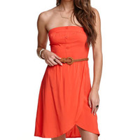Kirra Strapless Belted Dress at PacSun.com