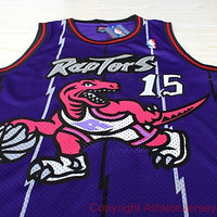 RARE Vince Carter 15 Toronto Raptors Swingman Vince Carter Nba Jersey Sport Basketball Jersey All Stitched and Sewn Jersey Any Size S - XXL