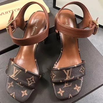 '' Louis Vuitton '' Fashion princess high heels Print Shoes