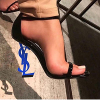 Yves Saint Laurent YSL new ultra high heel sexy shaped with sandals high heels shoes 11#