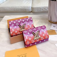 Louis Vuitton LV New Hot Sale Women's Printed Letter Gradient Flip Shoulder Bag Diagonal Crossbody Bag