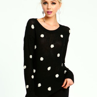 DOTTED KNIT SWEATER