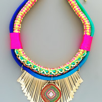 Moroccan Starry Night Statement Necklace