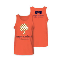 Simply Southern Palm Dot Tree Tank - Coral