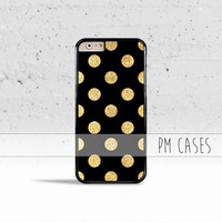 Gold Polka Dots Case Cover for Apple iPhone 4 4s 5 5s 5c 6 6s Plus & iPod Touch