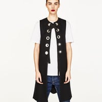 LONG WAISTCOAT WITH METAL DETAILS DETAILS