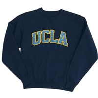 UCLA Bruins Big Cotton Crewneck Sweatshirt - Navy