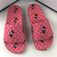 GUCCI Mickey print slippers