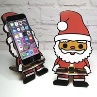 SANTA Christmas Decoration One Size Fits All Universal Cellphone Stand Smart Phone Docking Station Gift