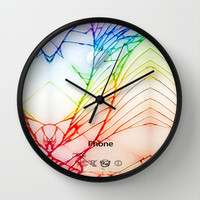 Broken, rupture, damaged, cracked out apple iPhone 4 4s 5 5s 5c, ipod, ipad, pillow case and tshirt Wall Clock by Three Second