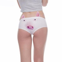Kawaii Piggy Printed Underwear For Women