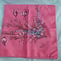 Vintage Hand Painted Giuly Scarf