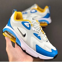 "Nike Air Max 200 YP ""Royal Pulse""Air cushion net weaving breathable jogging shoes"